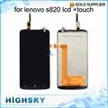 Prueba de 4.7 pulgadas pantalla lcd con el montaje del digitizador del tacto de pantalla para lenovo s820 1 unidades el envío libre de calidad aaa