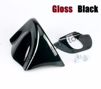 Gloss Bright Black Lower Front Chin Spoiler Air Dam Fairing Cover For Harley 06 17 Dyna