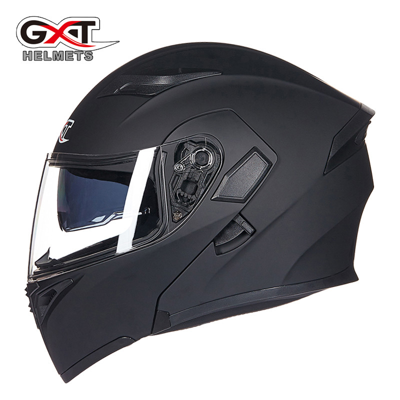 Hot sale GXT 902 Motorcycle Flip Up Helmet Modular casque moto cycling helmets black Sun Visor Safety Double Lens Racing helmet
