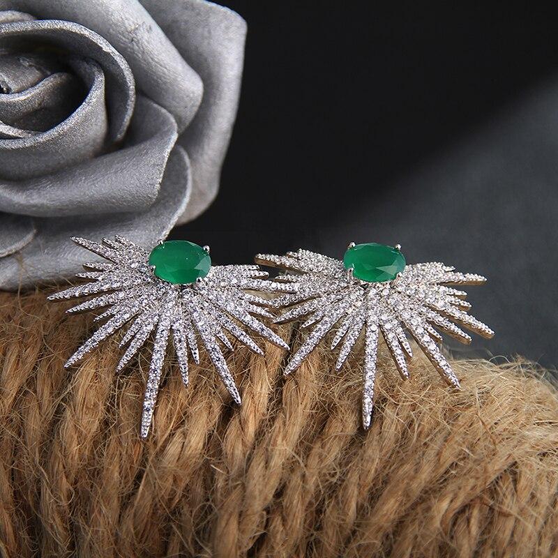 Novi prihodi uhani za ženske temperament beli cirkoni okrasnih - Modni nakit - Fotografija 4