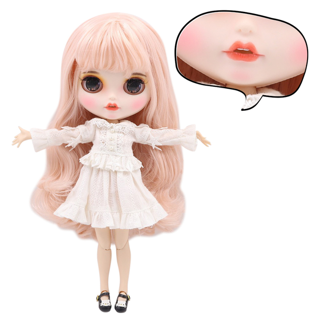 Samantha – Premium Custom Blythe Doll with Clothes Cute Face