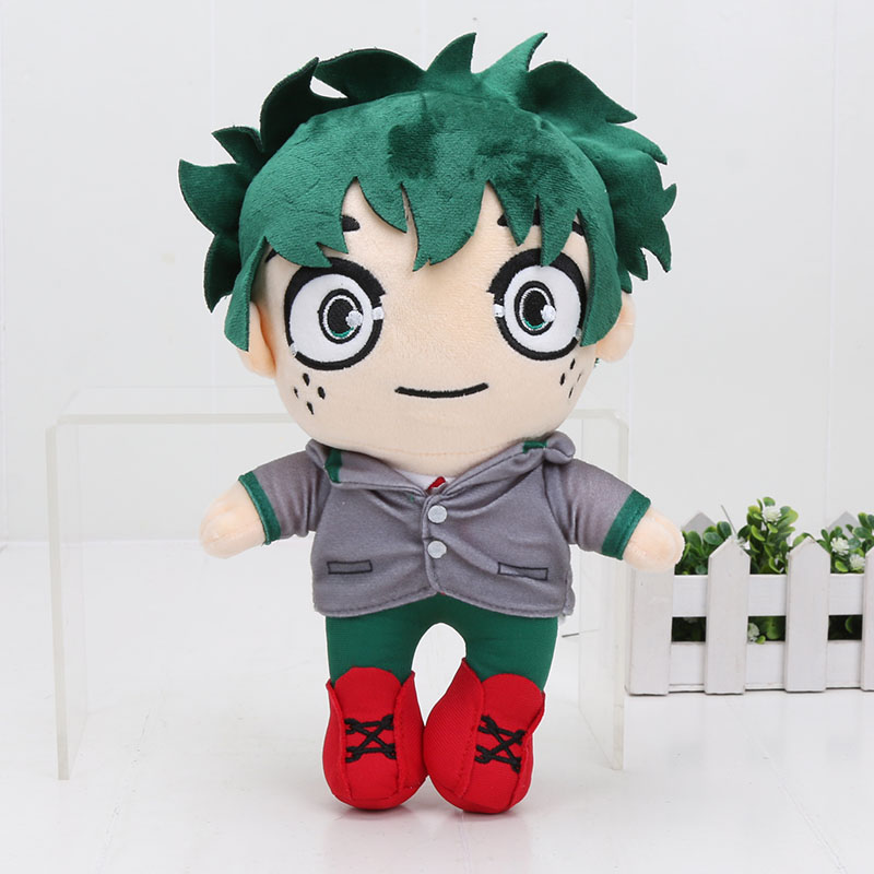 Anime My Hero Academia Plush Figure Toys Boku no Hero Academia Izuku Midoriya Stuffed Soft Plush Doll Toys Gift  25cm