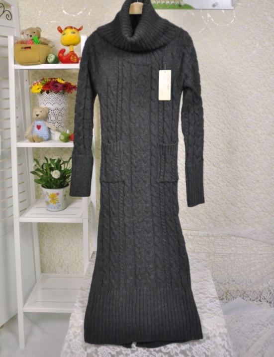 kleid Koreanische pullover rollkragenpullover