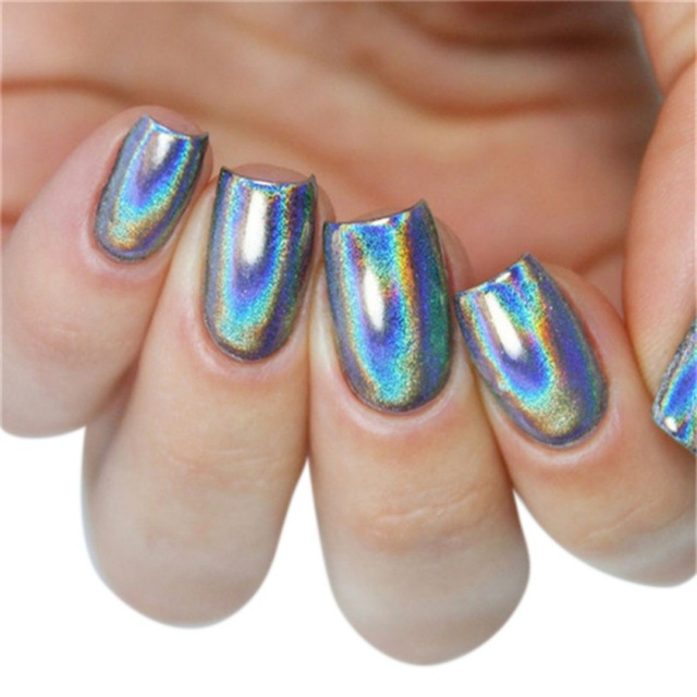 New Arrival Metallic Laser Nail Glitters Rainbow Nail Art Powder