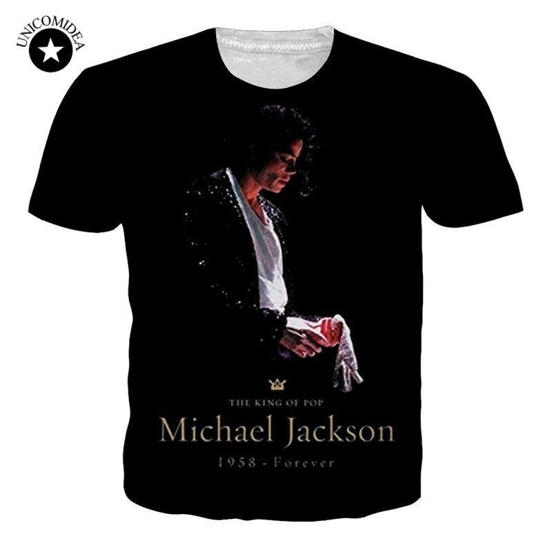 Fashion Basic Clothing Men/Women T-shirt 3d Print Michael Jackson T-Shirt Unisex Plus Size Tee Shirts Summer Trend Tee Dropship