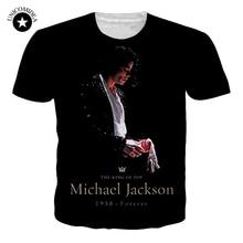Fashion Basic Clothing Men/Women T-shirt 3d Print Michael Jackson T-Shirt Unisex Plus Size Tee Shirts Summer Trend Tee Dropship