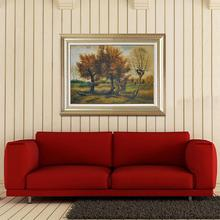 Handmade famous artwork Autumn Landscape with Four Trees reproduction scenery oil painting art canvas from china MP022