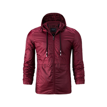 2019 spring and summer new mens fashion simple jacket windbreaker large size S-4XL thin coat hooded casual sports