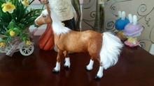 large 20x23cm simulation brown horse model toy polyethylene & furs horse ,handicraft ,props,home decoration t377