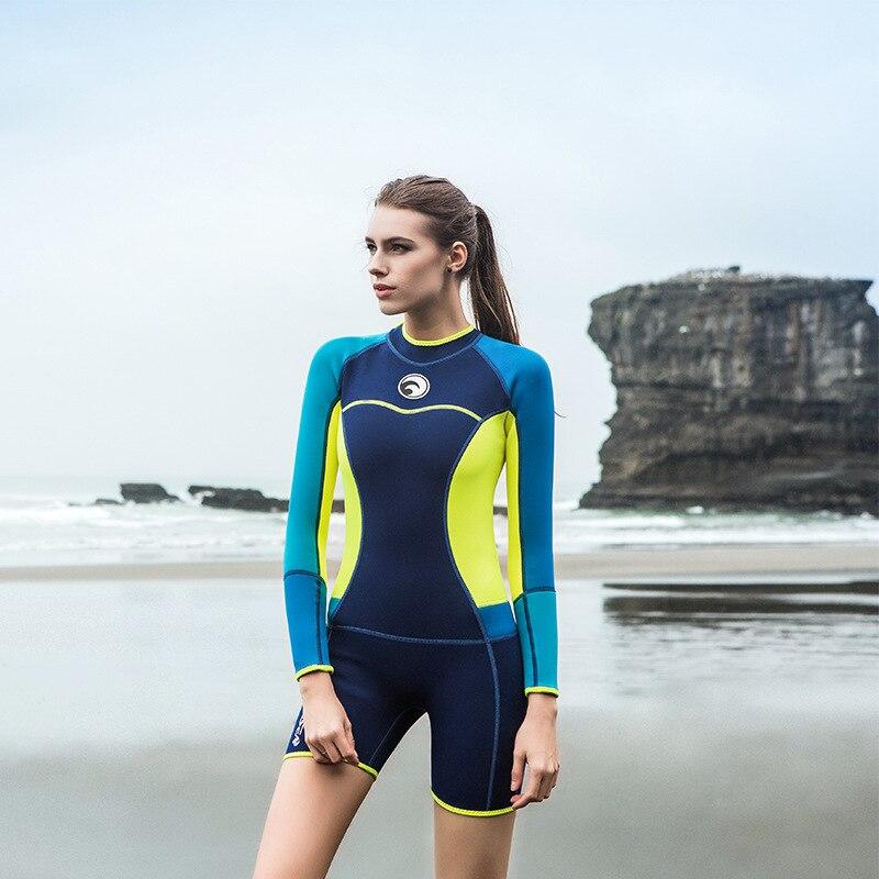 b3a95ebf52436 Women Spearfishing Wetsuit One Piece 1.5mm Neoprene Swimsuit Diving Surf  Snorkel Swim Wet Suit Swimwear. sku  32844663863
