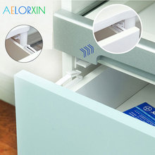 4Pcs/Lot Drawer Lock Invisible Cabinet Lock Baby Safety Latches Baby Security Protection From Children Drawer Safety Lock Child 4pcs baby safety lock baby kids safety care seguridad bebe children security protection drawer latches anti pinch hand protect
