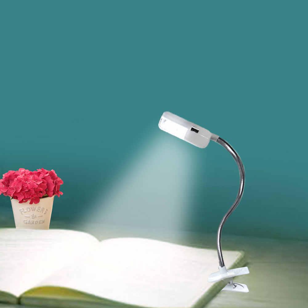 Светодиодный мини-светильник с зажимом для чтения, гибкая яркая лампа для путешествий, спальни, Рождества, Нового года, подарок для детей, ночное освещение