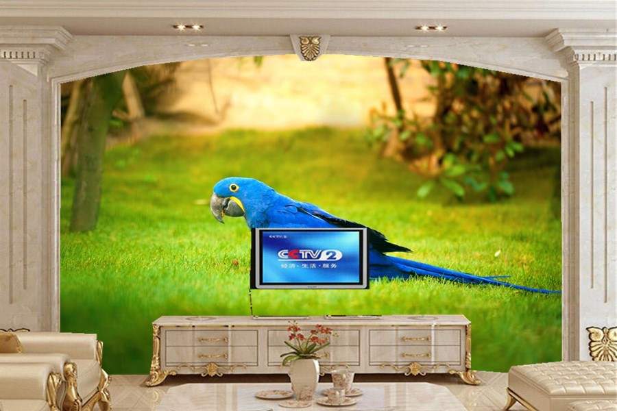 Custom photo 3d murals,Birds Parrots Grass Animals wallpaper,living room sofa tv wall bedroom papel de parede wallpaper 3d mural free shipping custom murals worn coloured wood wall mural bedroom living room tv backdrop wallpaper