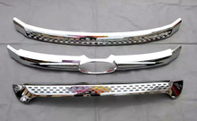 For Ford Explorer 2011 2012 2013 2014 3pcs Front Center Grill Grille Cover trim Car Exterior Accessories car styling