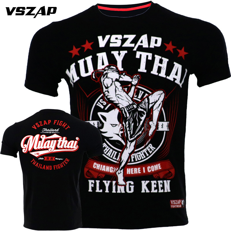 VSZAP MMA Boxing Sports T Shirt Muay Thai Fighting Fitness Elasticity Shirt Sweatshirts Boxing Clothing Muay Thai Shorts Mma