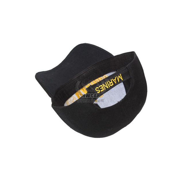 Wholesale US Marine Baseball Caps High Quality Embroidery Casual Black Baseball Cap For Men And Women Sunhat AE7