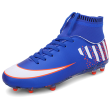 New Men Soccer Shoes Spike Football Boots High Ankle Superfly Adult Training Cleats Sneakers