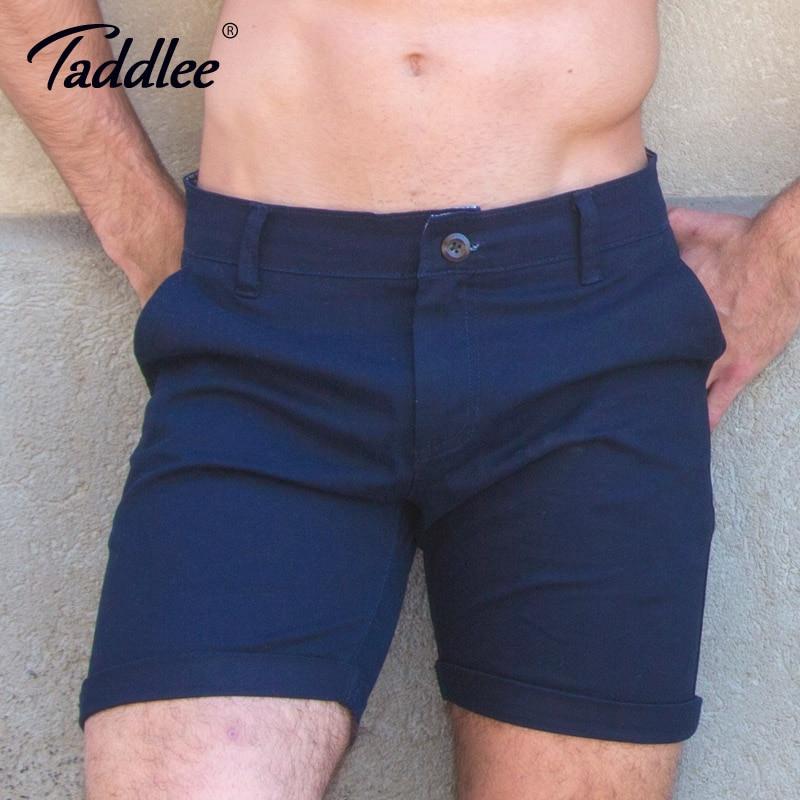 Taddlee Brand Fashion Men Shorts Casual Knee Length Short Bottoms Solid Color Trunks Slim Fit Cargo Denim Khaki Workout Shorts