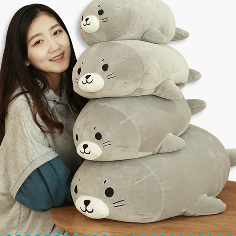 1PC 38/48/63CM Sea World Animal Sea Lion Doll Seal Plush Toy Baby Sleeping Pillow Kids Stuffed Toys Girl Birthday Gift