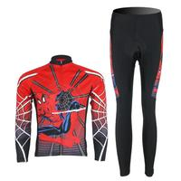 3D Silicone Spider Man 2012 Team Long Sleeve Autumn Cycling Wear Clothes Bicycle Bike Riding Cycling