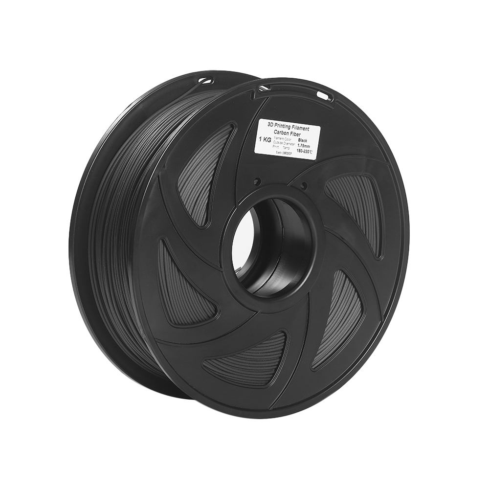 3D Printer Filament Carbon Fiber PLA 1 75mm 1kg Spool Dimensional Accuracy 0 02mm