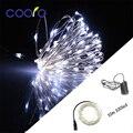 10 M 100 LEDs de alambre de Cobre LED cadena + DC12V 1A adaptador de corriente Para la luz de la Navidad, partido decoración de la Boda, Envío Libre