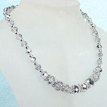 4f42c66f38784 Mode Main Argent Cristal Verre À Facettes Perles Collier Avec Fermoir  Magnétique une pièce 19
