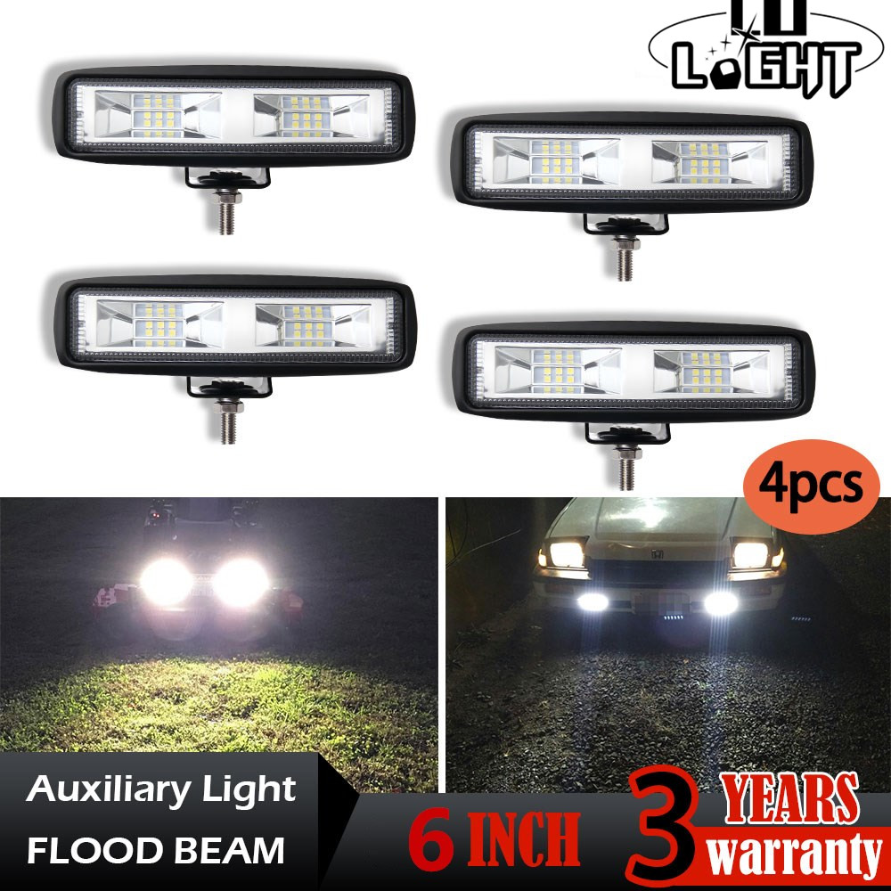CO LIGHT 6inch Led Worklight 40W Flood Auto Driving Lights DRL Led Light Bar for Offroad