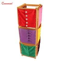 Туалетный каркас с подставкой Монтессори ежедневные навыки обучение обучающие игры игрушка для 3 6 лет дети учебные пособия PR001 3