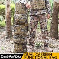 120 см очень большие возможности Охотничьи сумки двойной карабин Чехол Двойной двух винтовок CS пистолет съемки спортивный Пейнтбол Охотничь