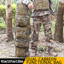 120cm Super Large Capability Hunting Bags Double Carbine Case Dual Two Rifles CS Gun Shooting Paintball Sports Hunting Bags