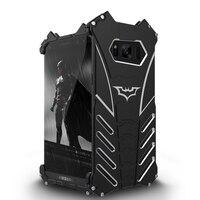 R-JUST BATMAN Dòng Luxury Doom Heavy Duty Armor Kim Loại Nhôm Mobile Trường Hợp Điện Thoại Cho Samsung Galaxy S8 S8 + Cộng Với