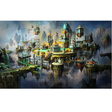 Beautiful castle diamond Embroidery diy painting mosaic diamant 3d cross stitch pictures H796