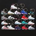 170Pcs DHL EMS Free Shipping Kids Toys Jordan Key chain for Woman and Men Pendant Gift Fashion Silicone Key Rings Keychain