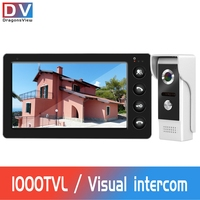 Video Intercom Wired Video Door Phone for Home Security System 7 inch Monitor With 1000TVL Doorbell Camera Support Night Vision