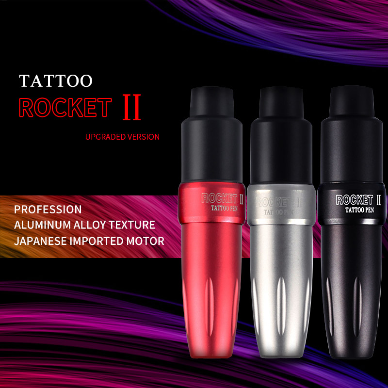 Newest One Pc Tattoo Rotary Pen Hybrid Permanent Makeup Rocket II  Tattoo Machine Strong Quiet Motor Supply