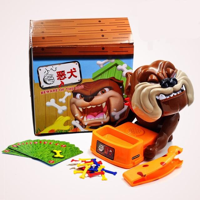 Весело звучание Сторожевой осторожно, злая собака игры игрушки родитель-ребенок интерактивная игрушка валиться с ног коррида собака игрушки детские ребенок подарок
