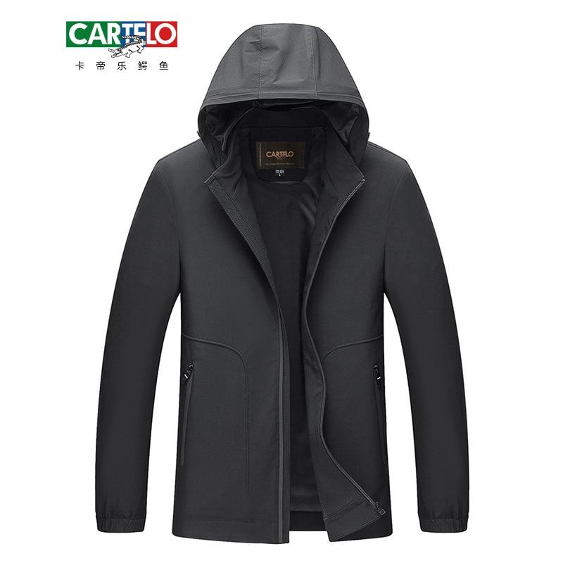 CARTELO Male Casual Business Fleece Thick Hoodie Slim font b Jacket b font Autumn Winter font