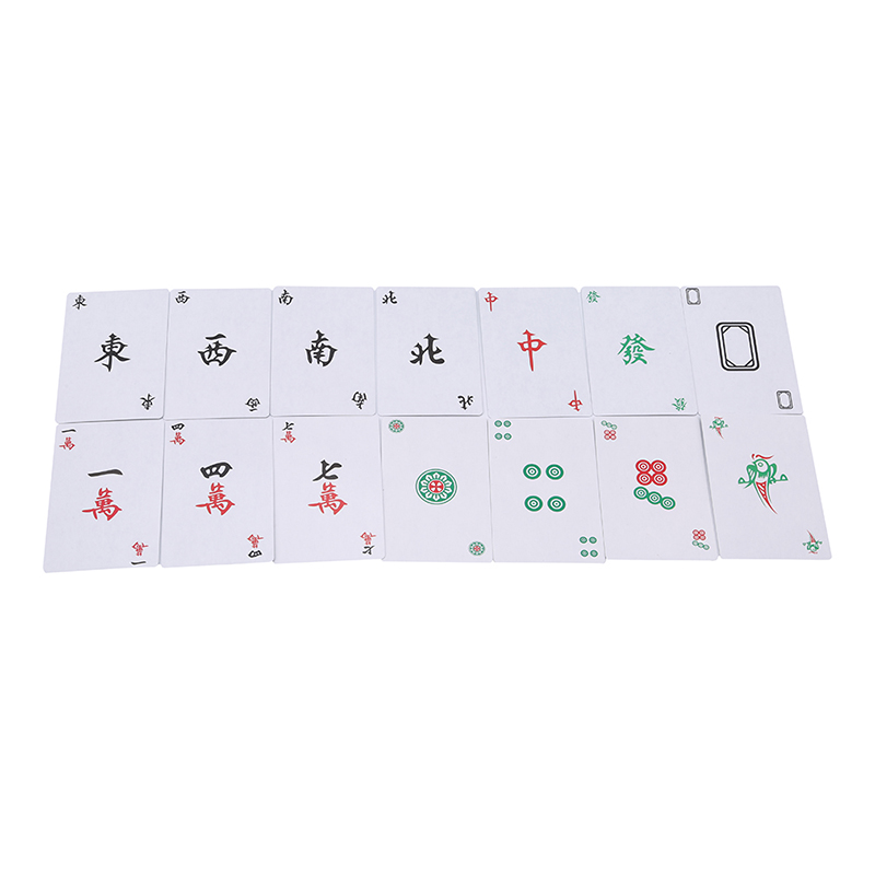 High Quality Funny Party Games1 Box Of 144 Paper MahJong Mah Jong Chinese Playing Cards Set For Party Games