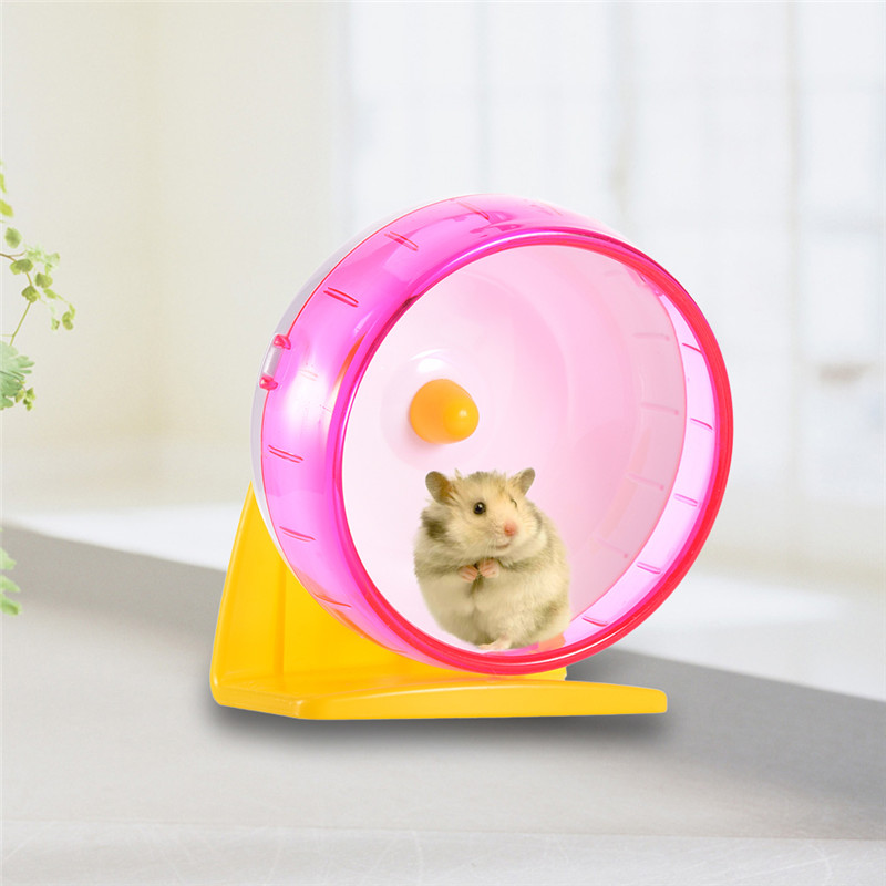 Hamster Gerbil Rat Exercise Wheel,Decdeal Silent Spinner PP Run Disc Small Animal Pet Toy 8.3inch