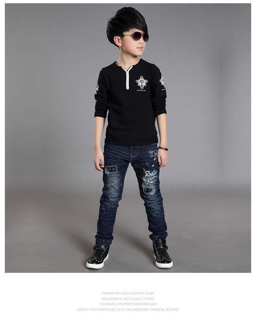 Boys t-shirt 2-10 Years children tees tops baby kids t-shirt fashion boy spring autumn streetwear kids long sleeve shirts