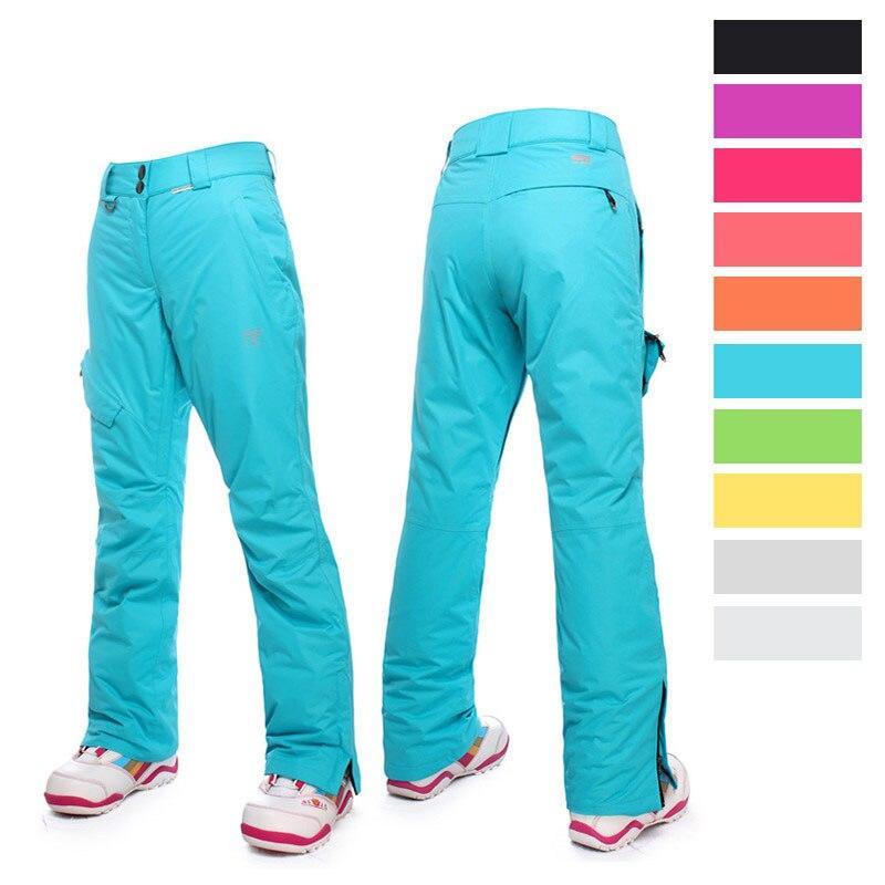 Saignement Hiver Ski Pantalon Femmes pantalon de neige imperméable Pantalon de Ski Femmes qualité supérieure D'hiver Ski pantalon femelle pantalons de snowboard