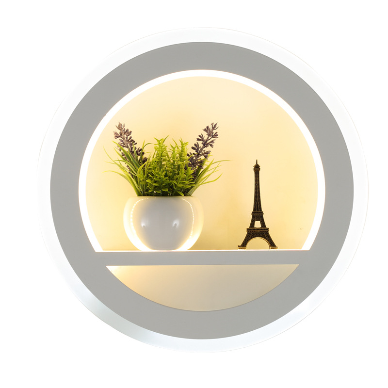 Modern LED Wall Lamps 25W Indoor Black White Wall Lighting Minimalist Art Sconce Wall Light for Bedroom Living Room Decoration in LED Indoor Wall Lamps from Lights Lighting