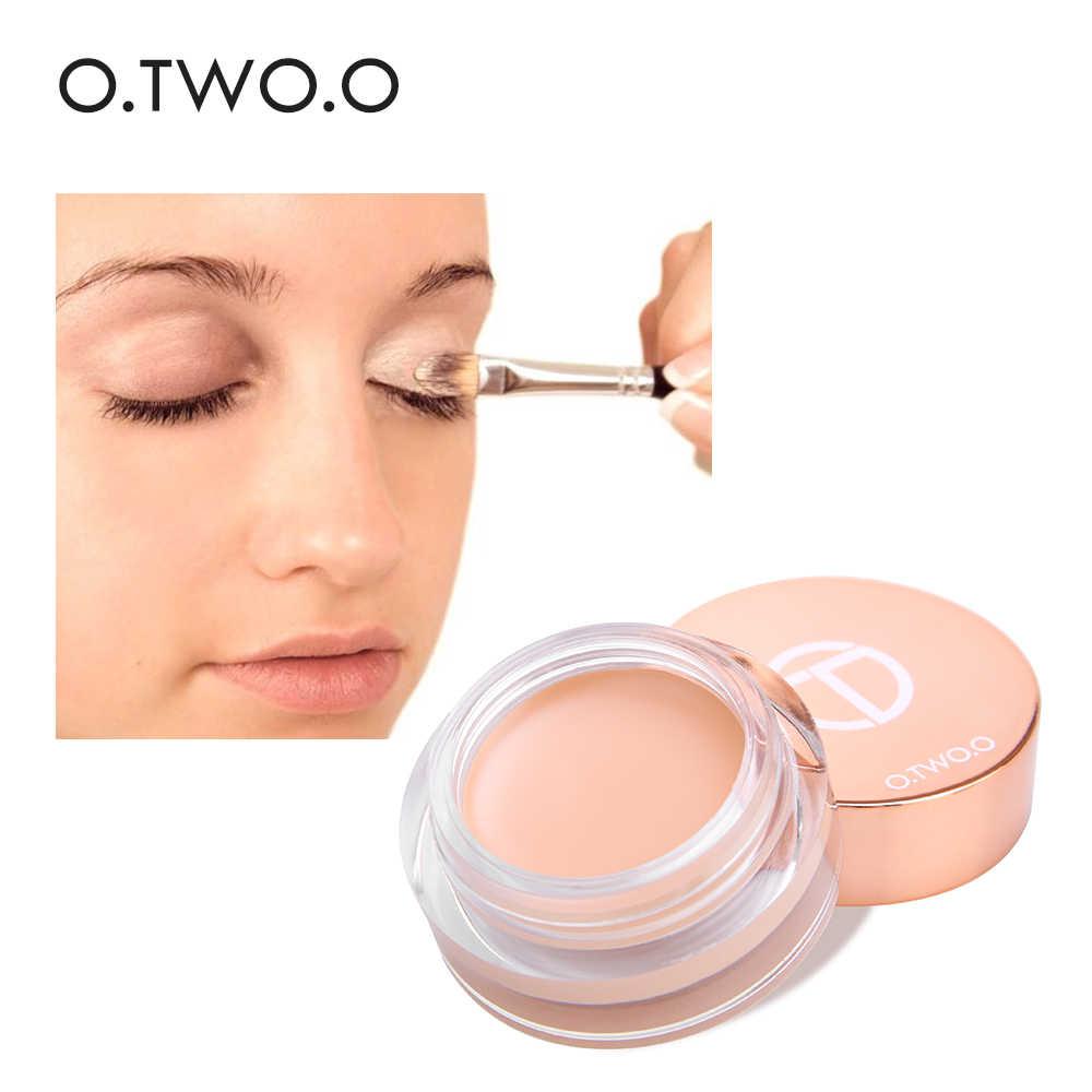 O. dua. O Primer Mata Concealer Cream Makeup Dasar Tahan Lama Concealer Mudah untuk Memakai Krim Pelembab Minyak Kontrol Mencerahkan Kulit