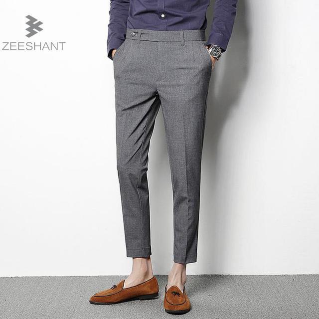 558dc3ac7cb5 Man Business Pants Men s Suit Pants Thin Line Dress Pants Men Slim Design  Classical Work Pants For Male 2018 Summer Autumn