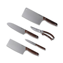 for XIAOMI BergHOFF Stainless Steel kitchen knives chef knife Sharp Santoku Cleaver Slicing Utility Knife tool Sicssor W/ holder(China)
