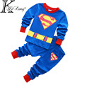 Cartoon 2-7 yrs boy superman pijamas kids clothes 100% cotton toddler boy clothing vetement enfant garcon roupas infantis menino