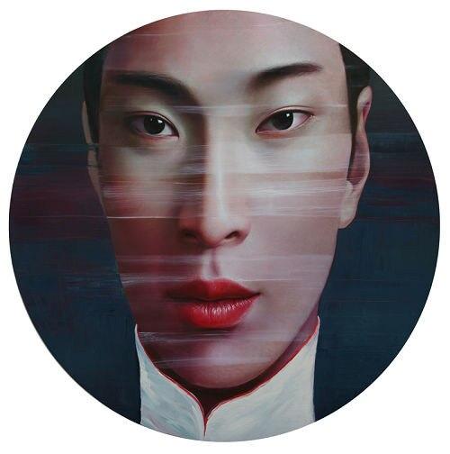 Ölgemälde Leinwand handgemaltes Modernes kunst Portrait Gemälde Chinesische Künstler LingJian Frauen Bild Home decoration 36x36 Zoll - 3