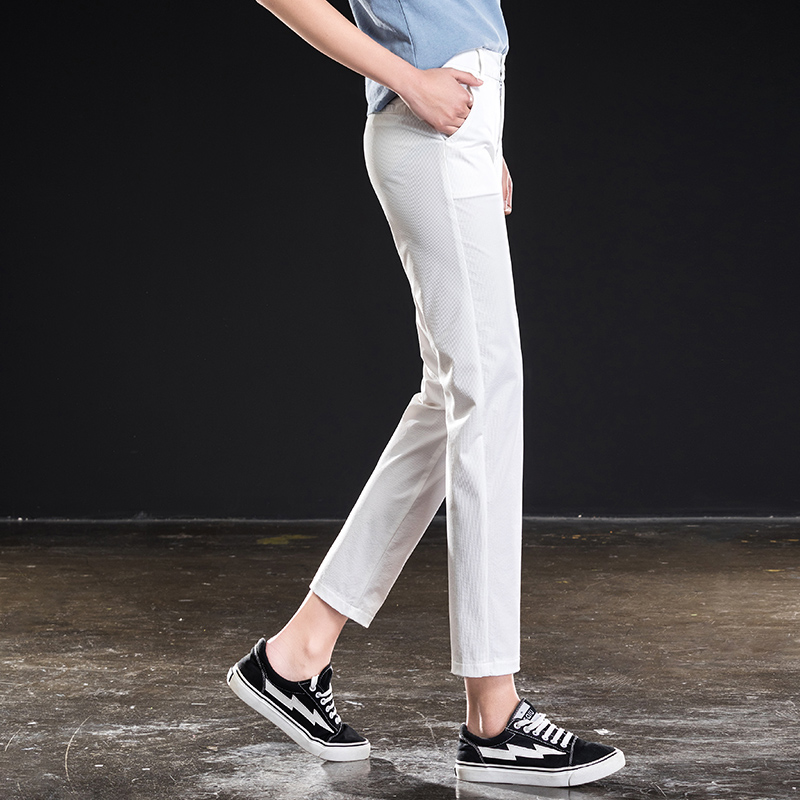 Alta Elasticidad Las Calidad Mujeres Cintura De Nuevas Tobillo Haren Verano Pantalones 2019 Longitud Sqx8Pwqd