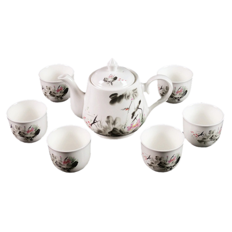 Jingdezhen new ceramic teapot Teapot Set large bone china cups gift box владислав крапивин кратокрафан